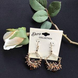 3/$15 SALE- Brown Dangle Earrings